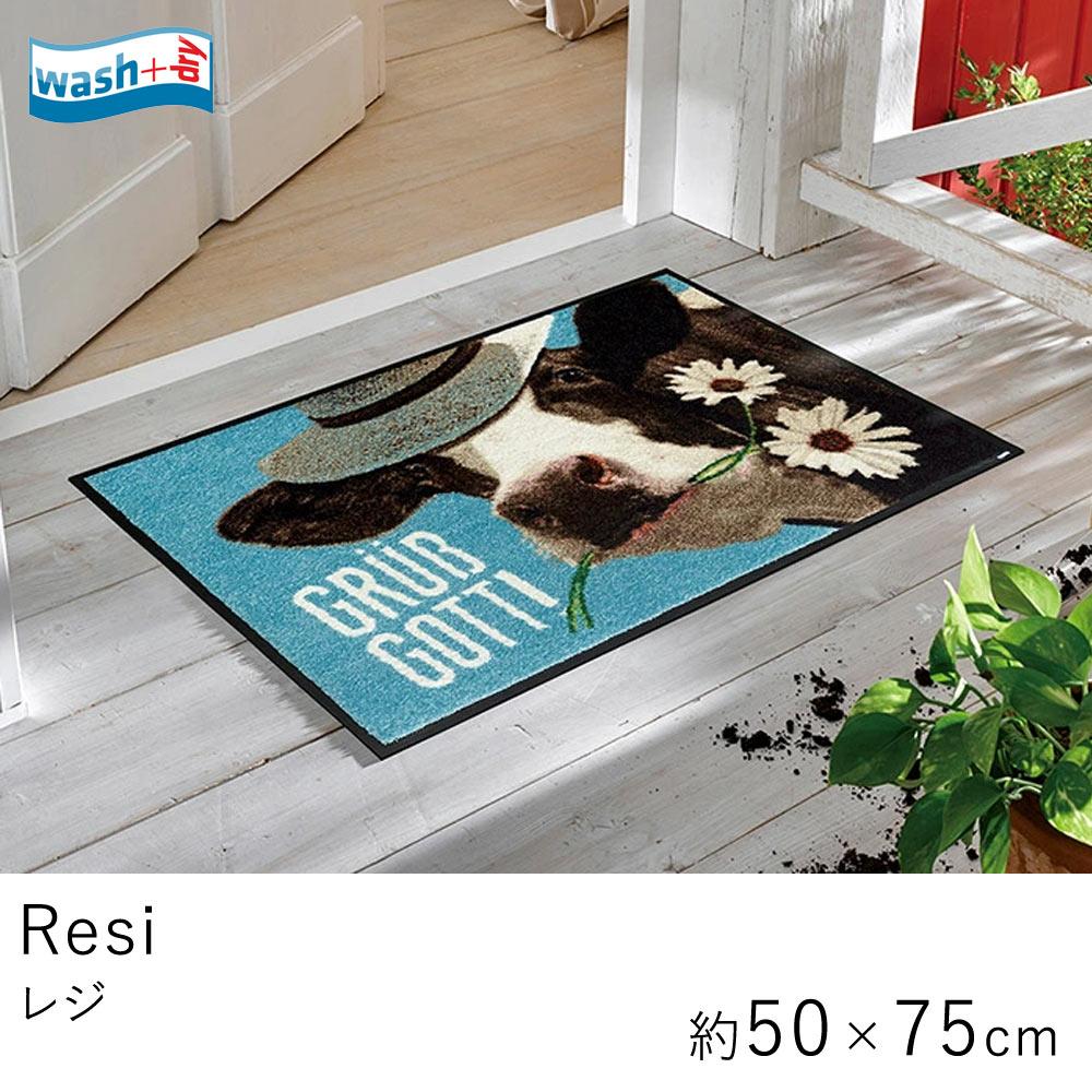 室内でも屋外でも使えるおしゃれな泥落としマット 玄関マット レジ 約50×75cm  ≪A030A≫ Wash & Dry ウォッシュドライ