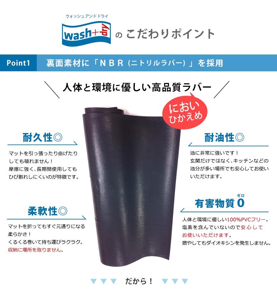 こだわりポイント【耐久性・耐油性・柔軟性・有害物質0】のニトリルラバー