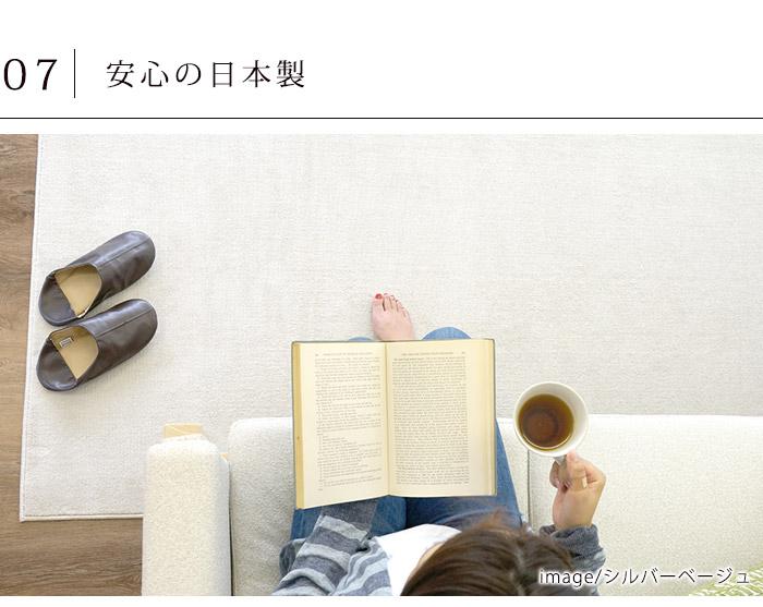 これだけの高機能に加えて、うれしい日本製。ご家族全員で、安心してお使いいただけるカーペットです。