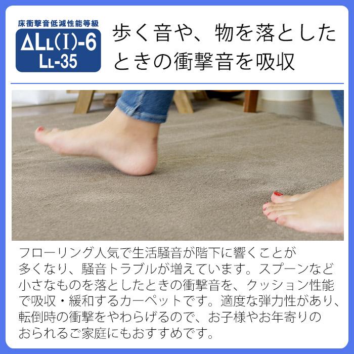 歩く音や、物を落としたときの衝撃音を吸収してくれる防音加工。遮音等級はΔLL(I)-6